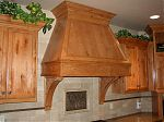 Stained Knotty Alder Custom Hood
