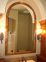 Stained Knotty Alder Mirror Frame