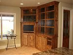 Stained Knotty Alder Bookcase