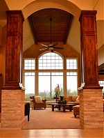 Stained Knotty Alder Columns
