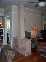 Paint Grade Column and Bookcases