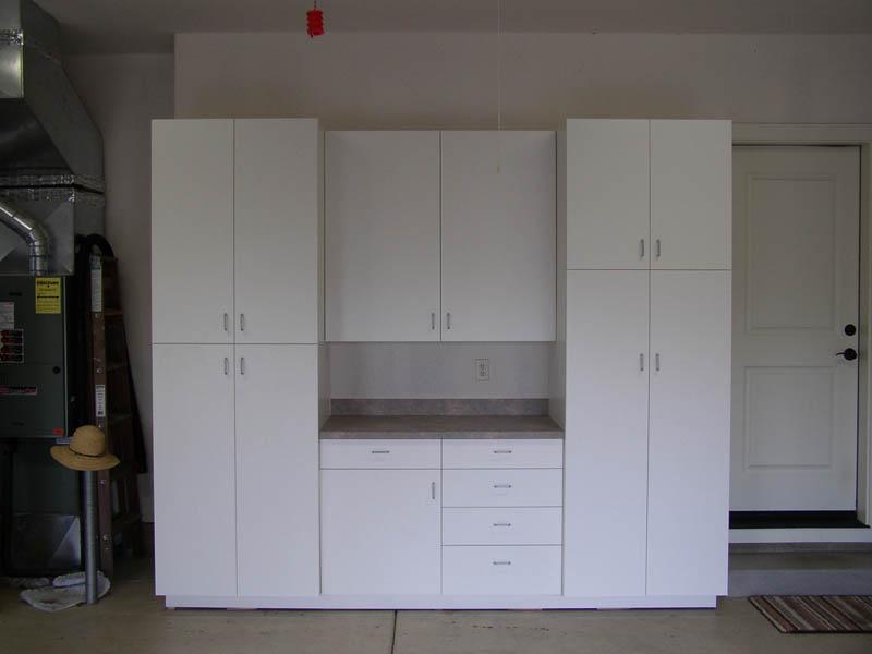 European White Melamine Garage Cabinets