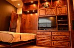 Stained Knotty Alder Murphy Bed