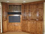 Stained Knotty Alder Entertainment Center