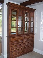 Knotty Alder China Cabinet